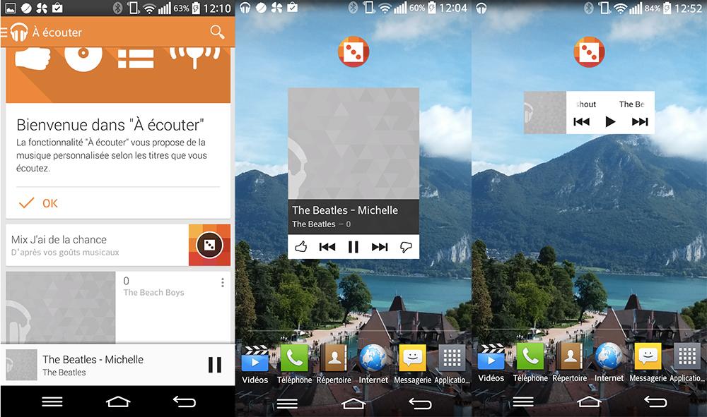 La nouvelle version Google Play Musique mise sur des widgets bien vus