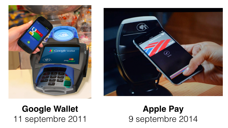 Le NFC au centre de la lutte d'Apple Pay contre Google Wallet