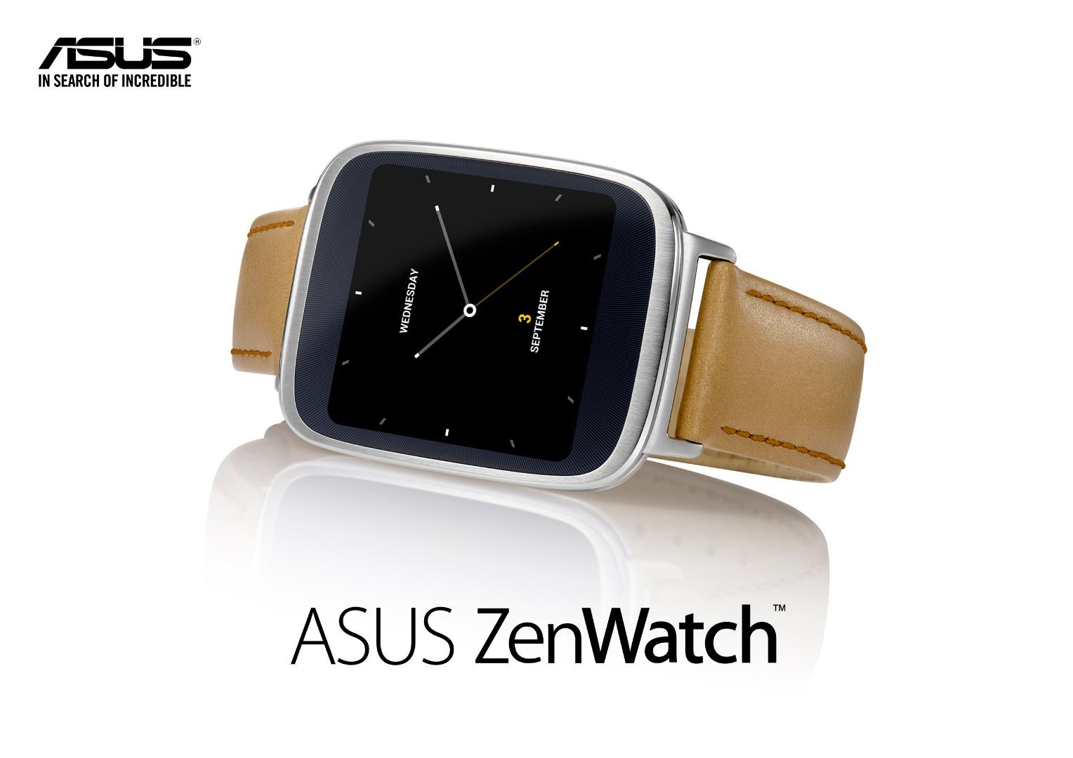 Asus ZenWatch : Android Wear, écran incurvé et bracelet cuir pour 200 euros