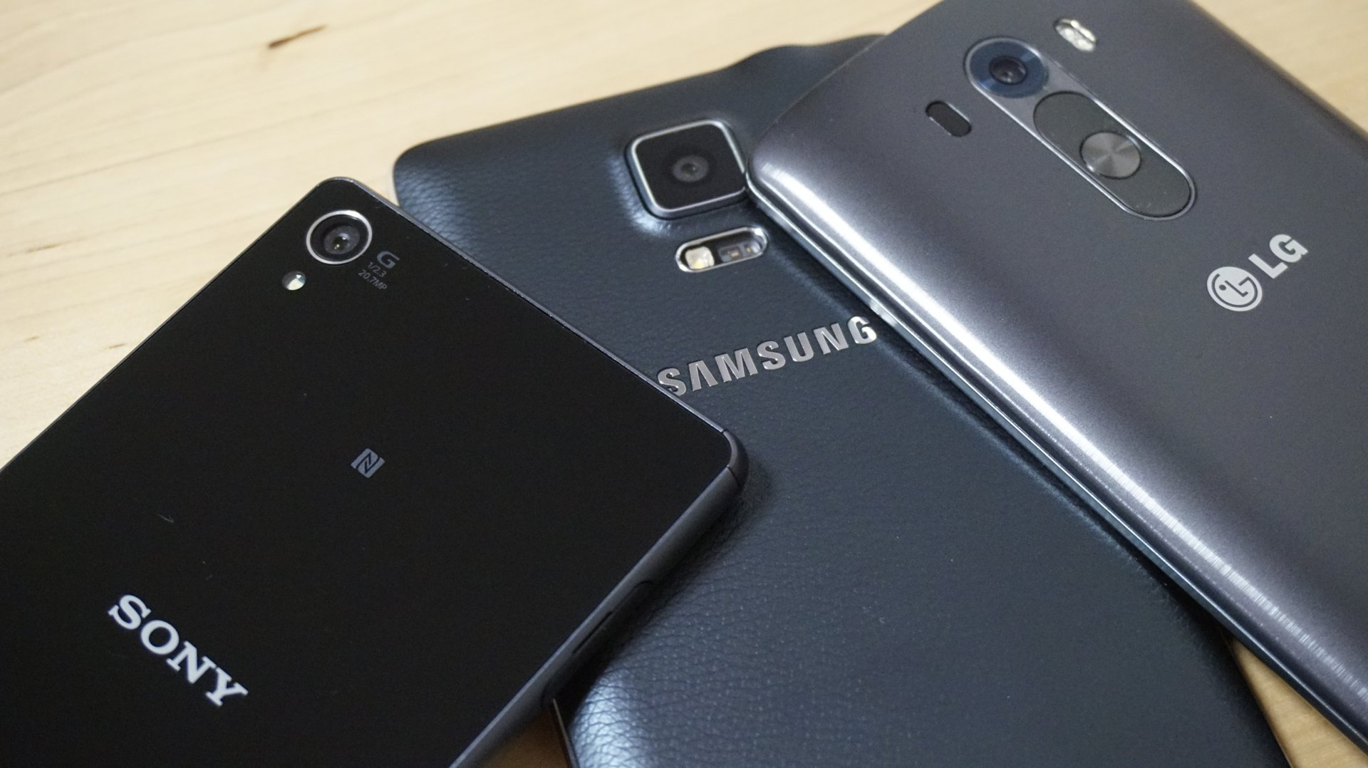 Galaxy Note 4, Xperia Z3 et LG G3 : le face-à-face photo