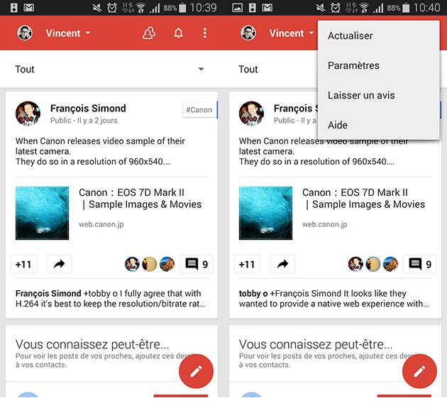 L'app Google+ se met à l'heure du Material Design et permet de créer des sondages