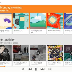 Google Play Music intègre des éléments de Material Design (et un peu de Songza)