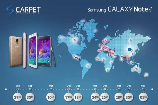 Samsung Galaxy Note 4 : sa date de sortie précise est officielle !