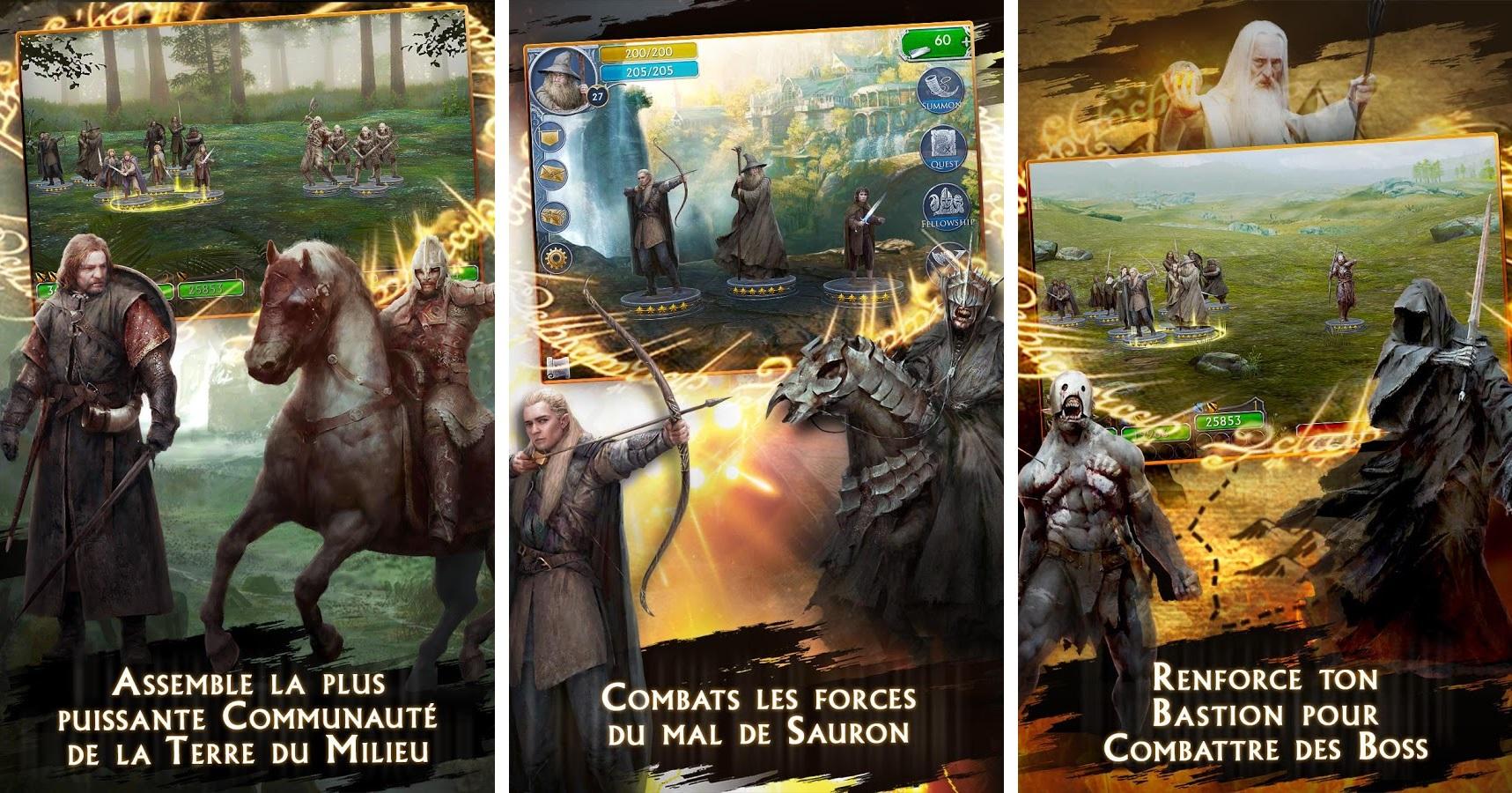 Un nouveau jeu Le Seigneur des Anneaux est disponible sur Android