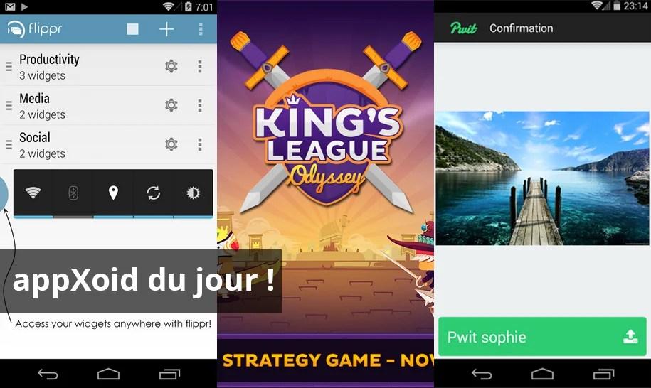 Les apps du jour : King's League: Odyssey, flippr et Pwit