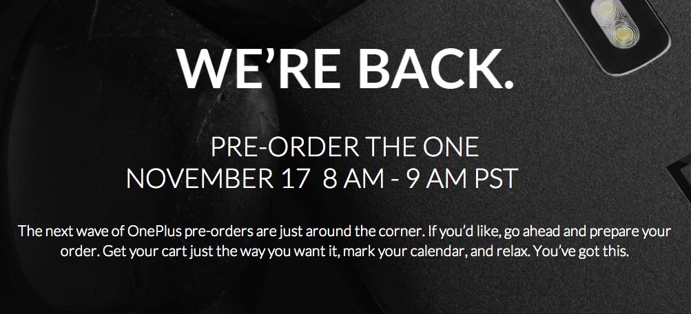 Vente flash du OnePlus One, épisode 2 : c'est parti !