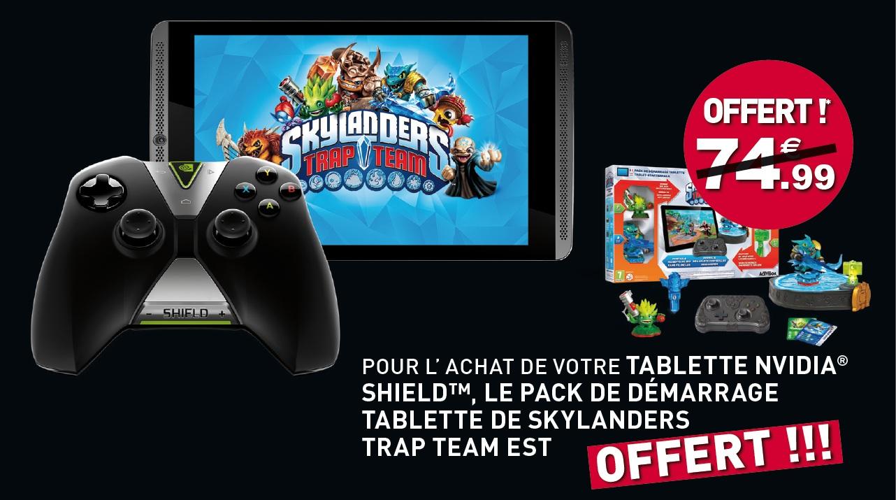Bon Plan : Skylanders Trap Team offert pour l'achat d'une Nvidia Shield Tablet chez Micromania