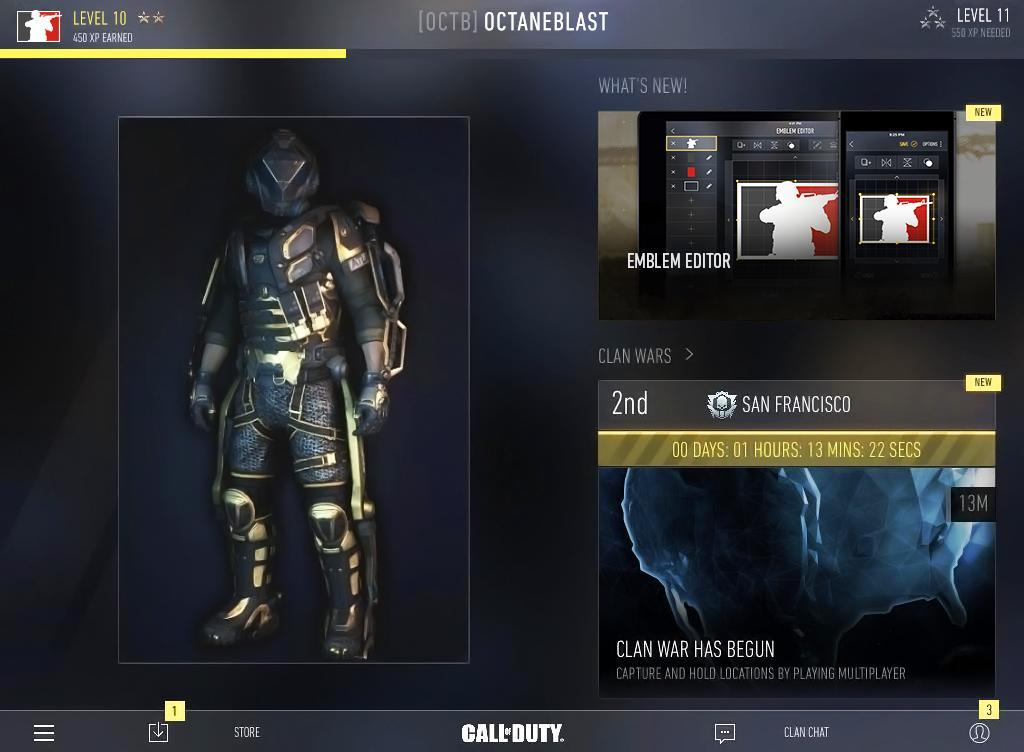 L'application compagnon pour Call of Duty : Advanced Warfare est disponible