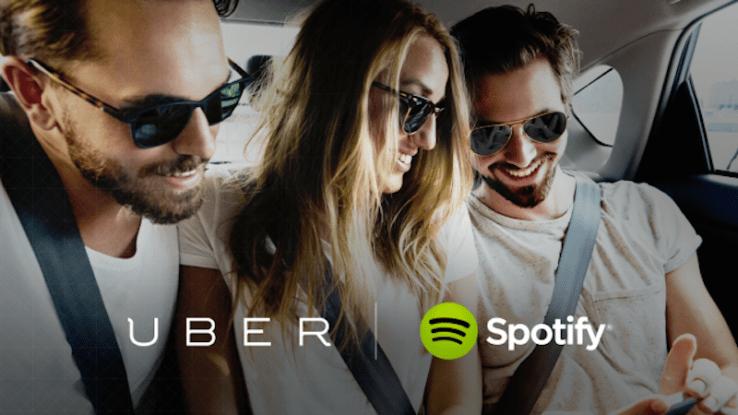 Uber et Spotify s'allient pour que les clients diffusent leur musique dans les VTC