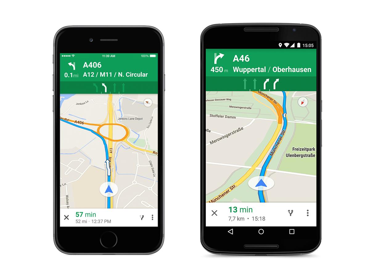 Google Maps facilite la navigation sur les autoroutes avec le guidage par file