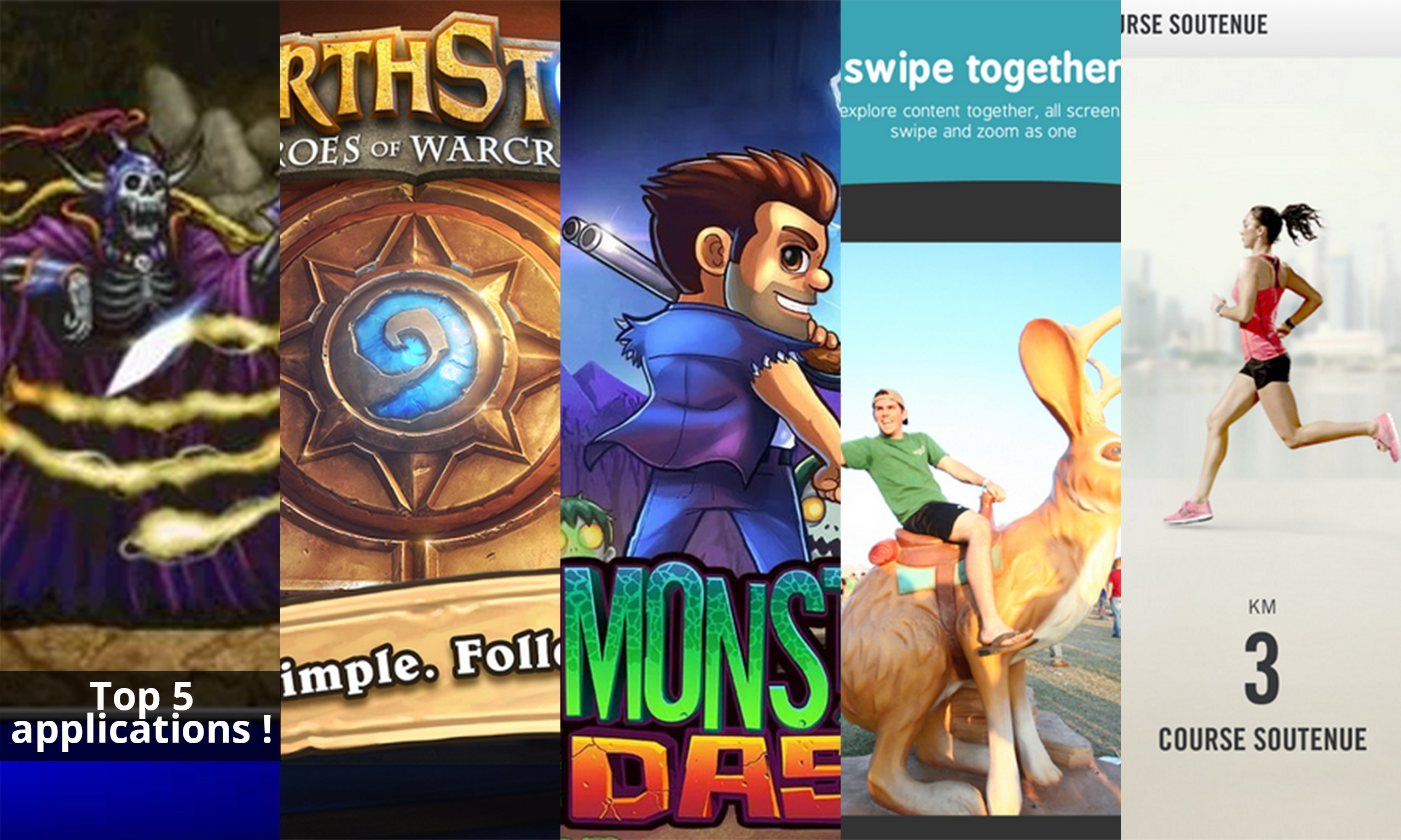Les apps de la semaine : Final Fantasy, Hearthstone Heroes of Warcraft, Monster Dash, Microsoft Xim et Nike+ Training Club