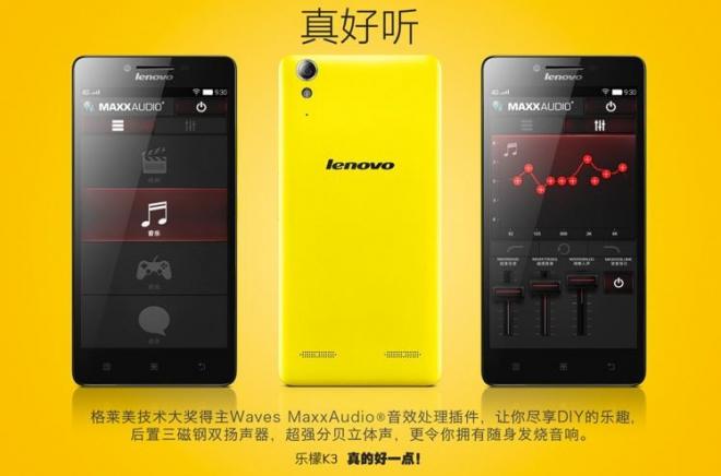 Lenovo K3, un écran HD avec du Snapdragon 410 pour 80 euros