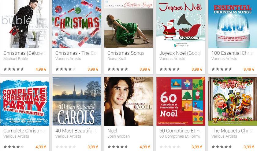 La bande-son de Noël se télécharge aussi sur le Play Store