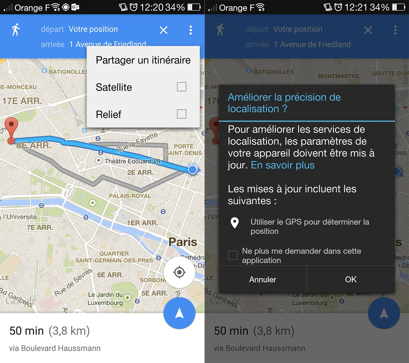 Google Maps vous permet désormais de partager vos itinéraires
