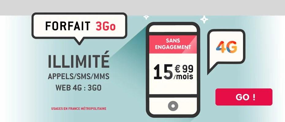 Le forfait NRJ Mobile avec appels/SMS illimité + 3 Go à 15,99 euros est disponible