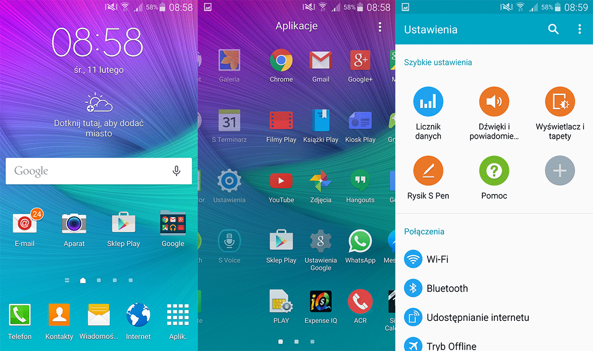 Samsung Galaxy Note 4 (Exynos) : Lollipop arrive en Pologne