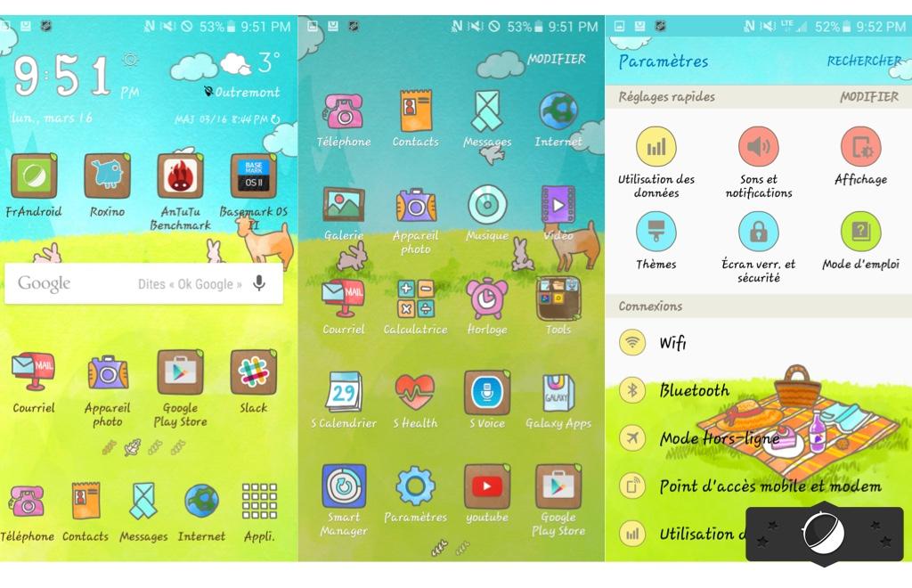 Samsung GalaxyS6 : la boutique de thèmes s'étoffe (et ce n'est pas beau à voir)