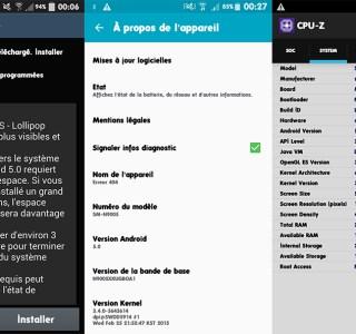 Le Samsung Galaxy Note 3 se met à jour vers Lollipop