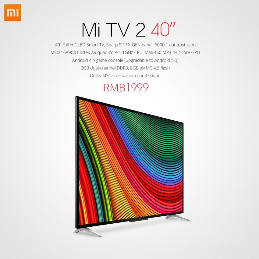 Xiaomi présente sa nouvelle Mi TV 2 : pas de 4K mais un prix divisé par deux