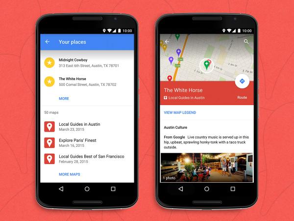 Les cartes personnalisées My Maps font leur entrée dans Google Maps