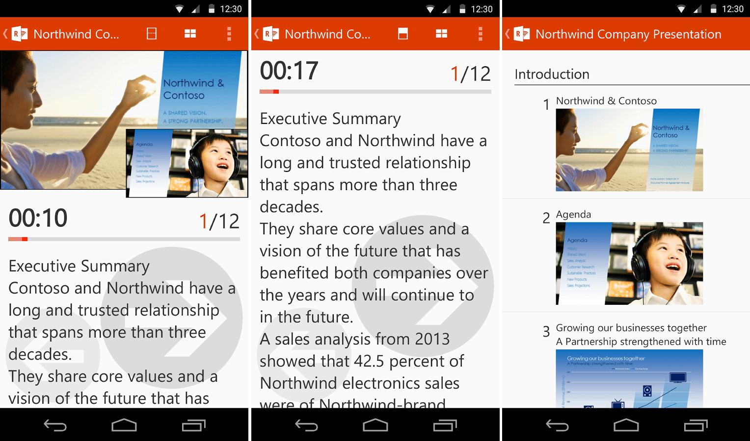Office Remote for Android permet de contrôler des présentations PowerPoint depuis un smartphone