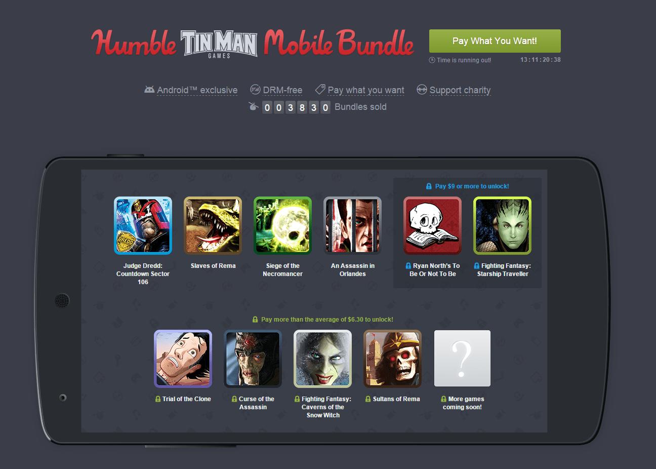 Humble Mobile Bundle : les livres dont vous êtes le héros à l'honneur