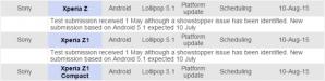 Sony : du retard pour Lollipop 5.1 sur les Xperia Z, Z1 et Z1 Compact