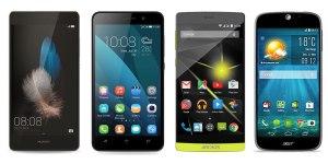 Comparatif : le Huawei P8 Lite face à ses concurrents