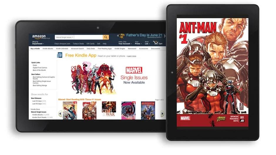 Amazon conclut un accord avec Marvel : 12  000 comics au programme !