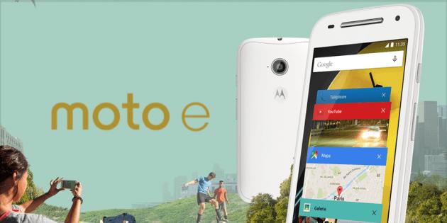 Vente flash : le Motorola Moto E 4G est à 99 euros au lieu de 139,90 euros