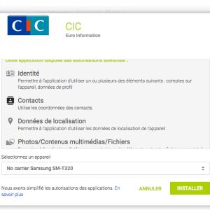 Le CIC abuse des autorisations sur son application et menace ses clients