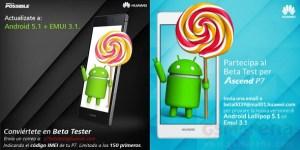 Huawei Ascend P7 : la mise à jour vers Android 5.1 Lollipop est en bêta publique