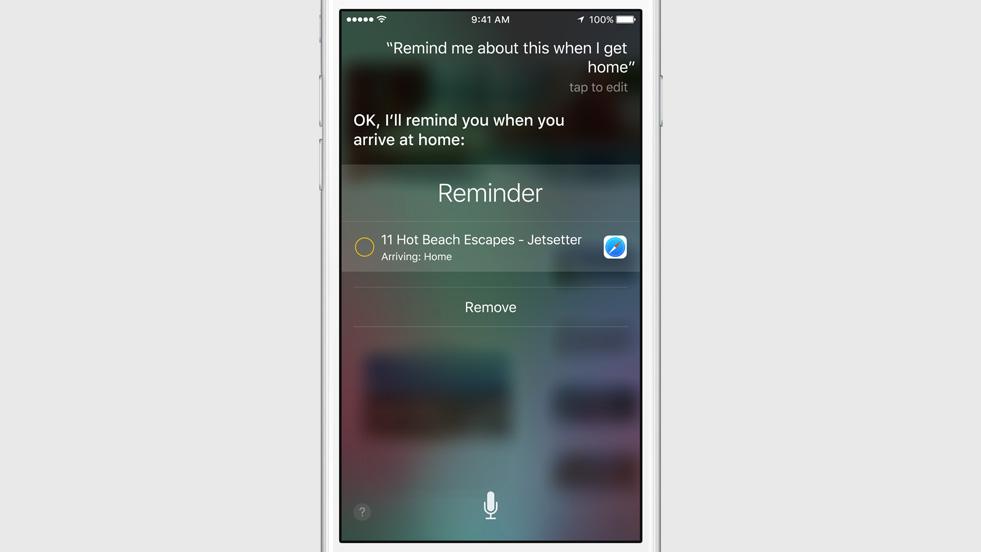 Proactive : Le nouvel iOS9 veut prendre l'avantage sur Google Now