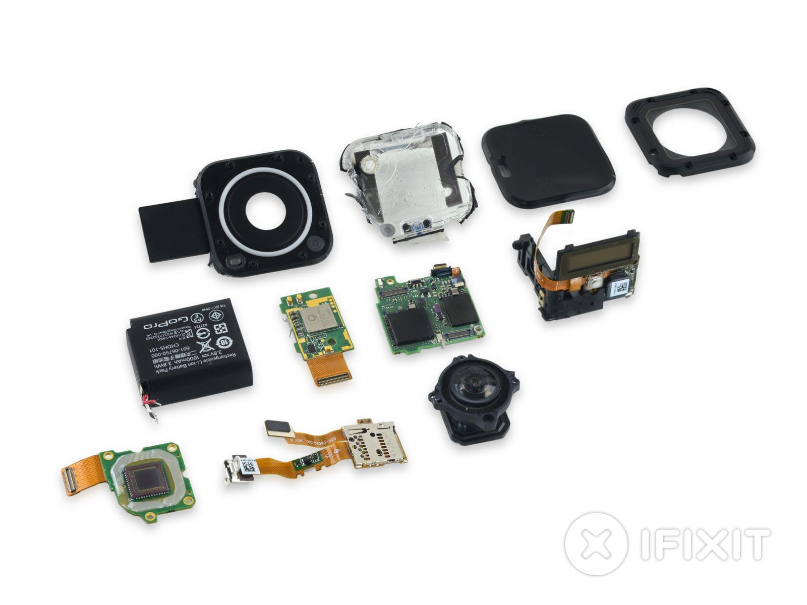 iFixit démonte la GoPro Hero4 Session et lui attribue un 1/10 : tant mieux pour l'étanchéité