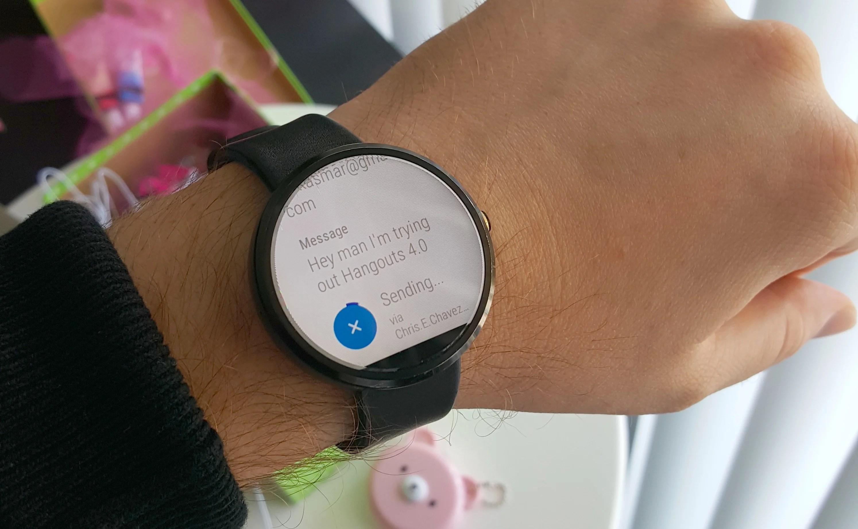 Hangouts4.0 : le support d'Android Wear sera amélioré