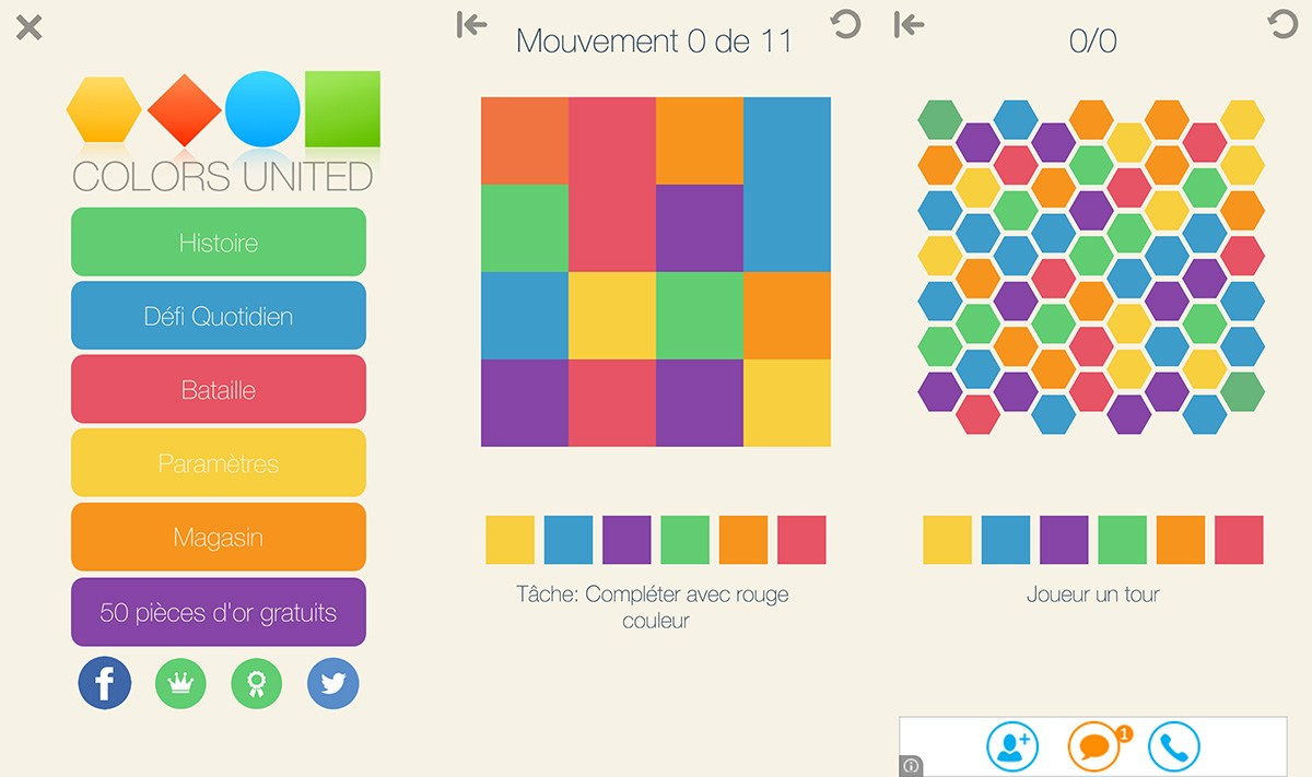 Colors United : un puzzle-game du genre très coloré