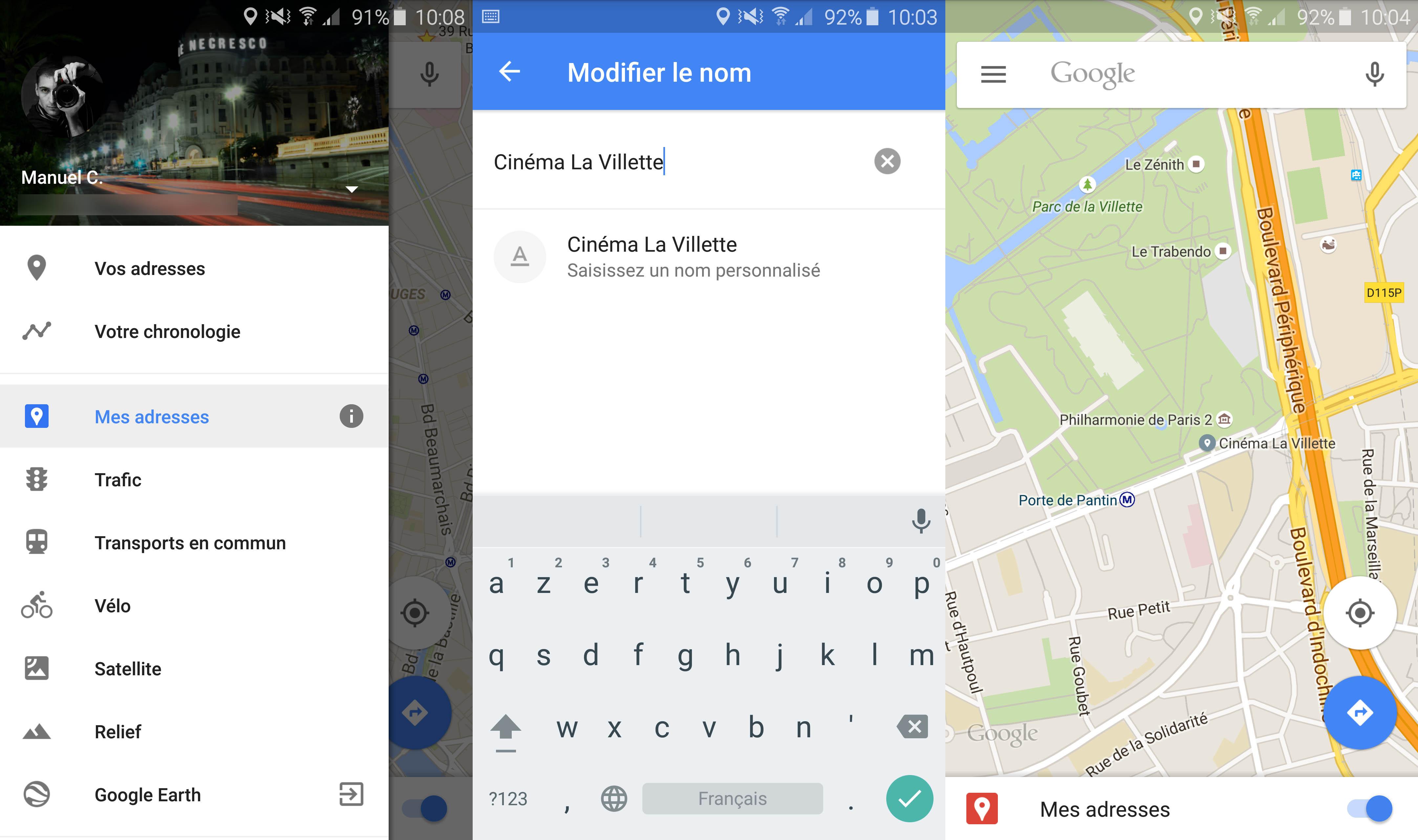 Google Maps 9.12 vous laisse personnaliser le noms des lieux que vous fréquentez