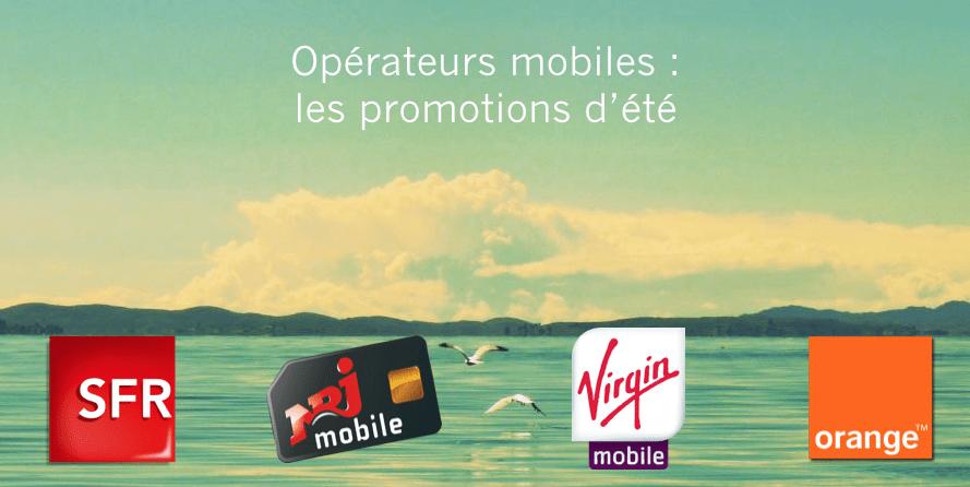 Pour changer de forfait mobile, les promotions de l'été chez les opérateurs français