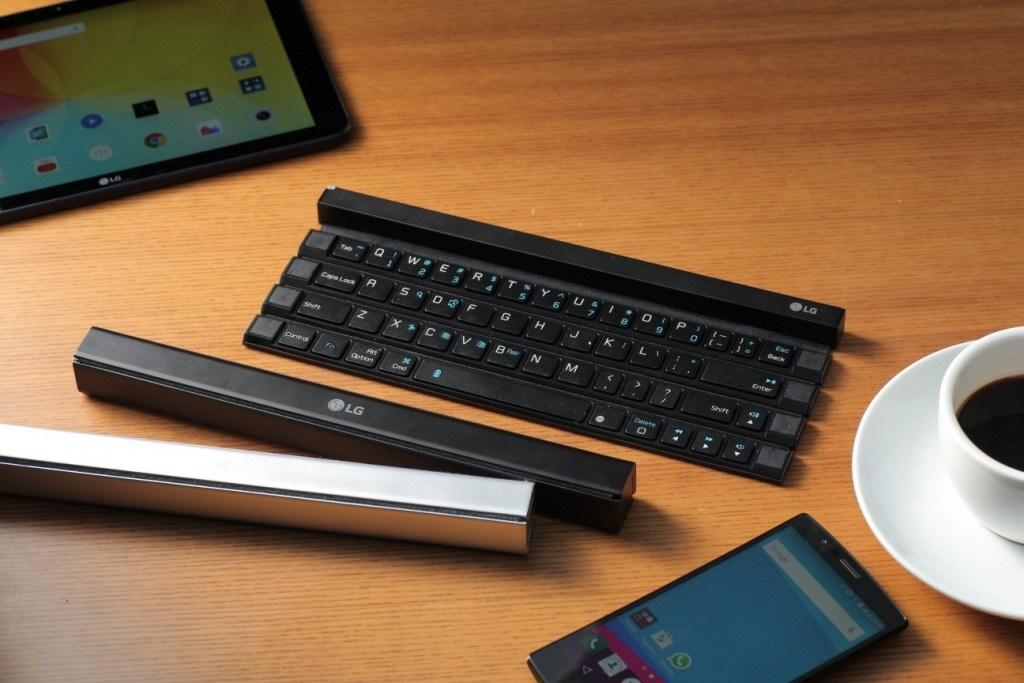 LG dévoile le Rolly Keybord, un clavier Bluetooth qui s'enroule sur lui-même
