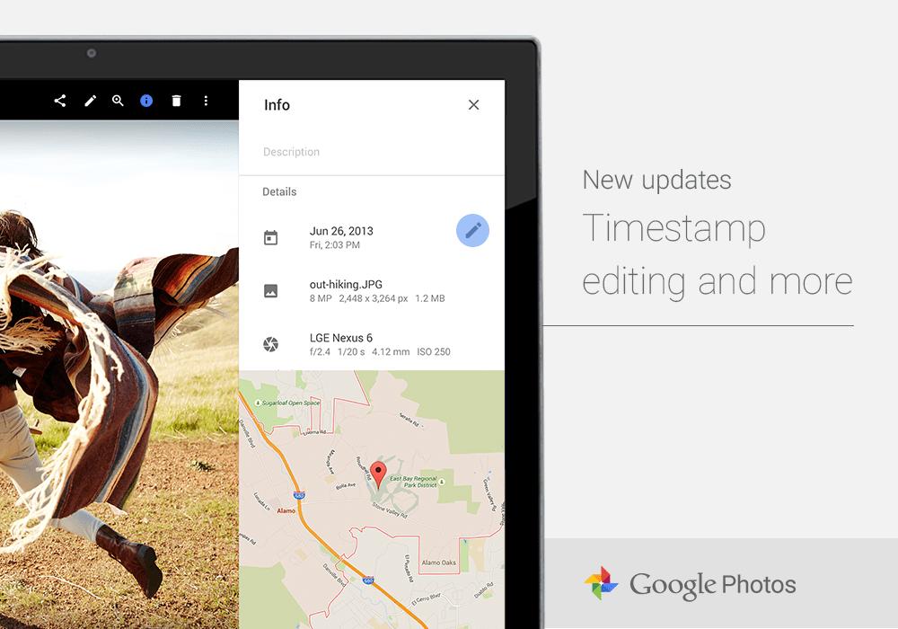 Google Photos améliore les fonctionnalités de son application web