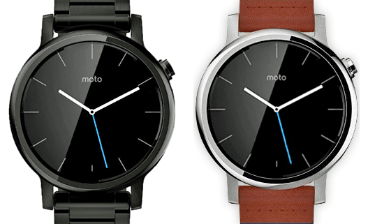 Motorola Moto 360 2e gen : une photo presse montre ses deux formats