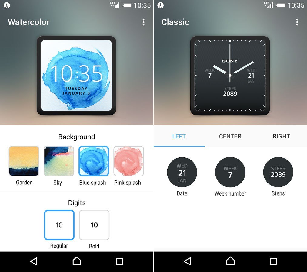 Sony publie son application dédiée à la SmartWatch 3