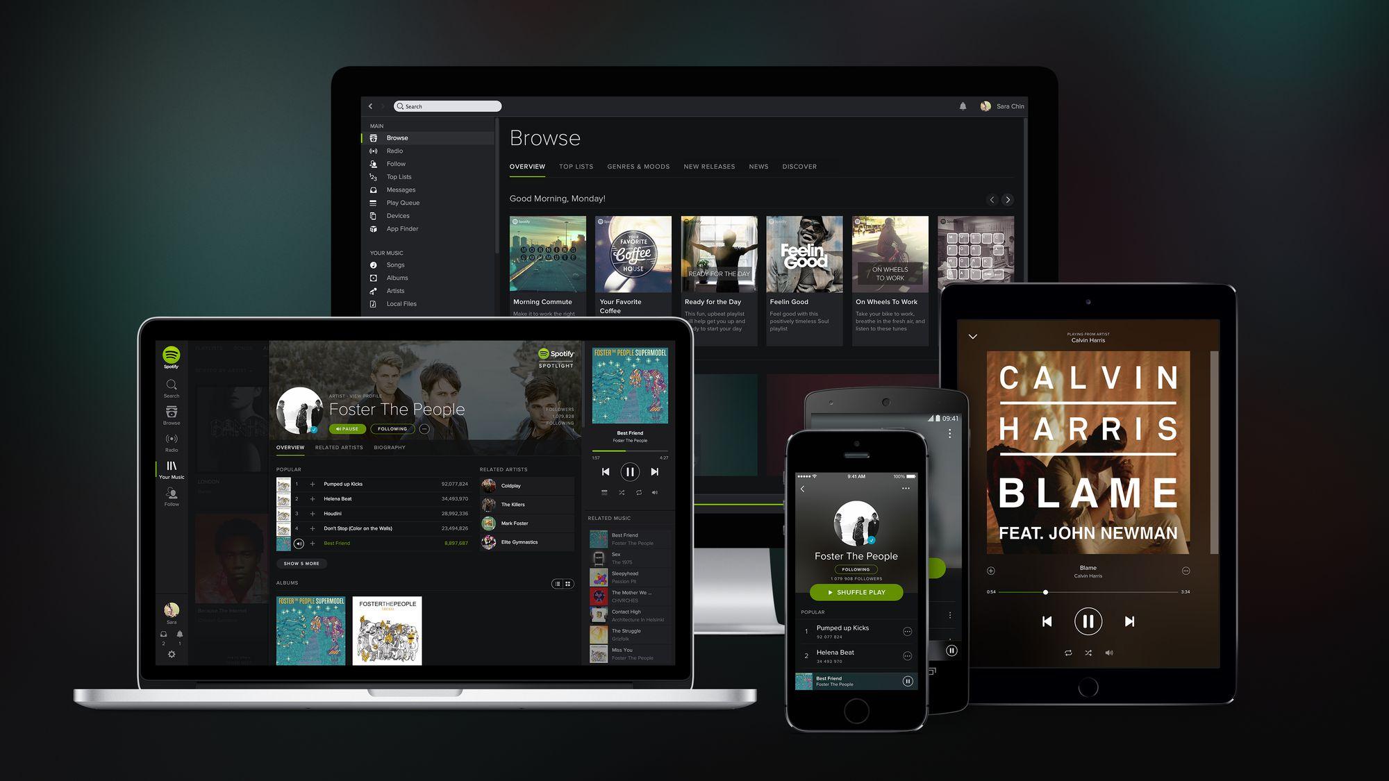 Spotify revendique maintenant 100 millions d'utilisateurs actifs