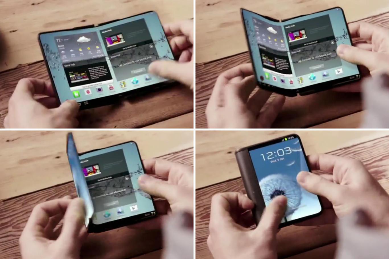 Un brevet montre comment Samsung envisage les smartphones à écrans pliables
