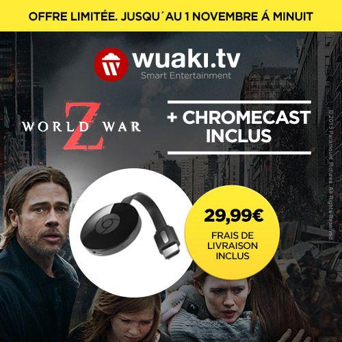 Bon plan : le Chromecast 2 en promo à 32,99 euros avec le film World War Z offert