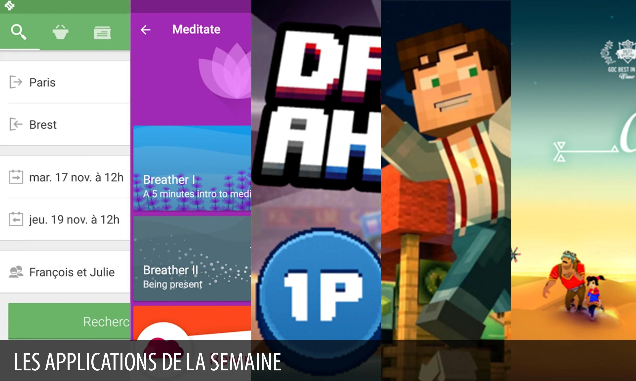 Les apps de la semaine : Capitaine Train : billets SNCF, Minecraft : Story Mode…
