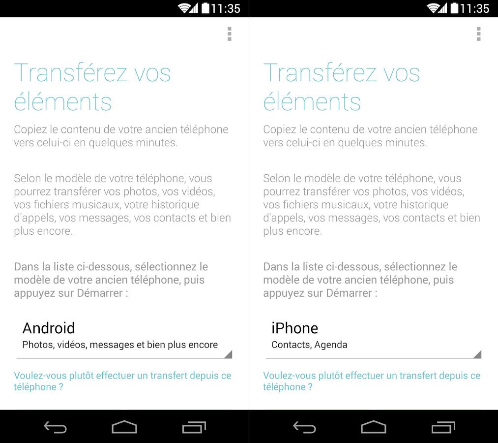 Motorola supprime l'iPhone de son app de transfert de données