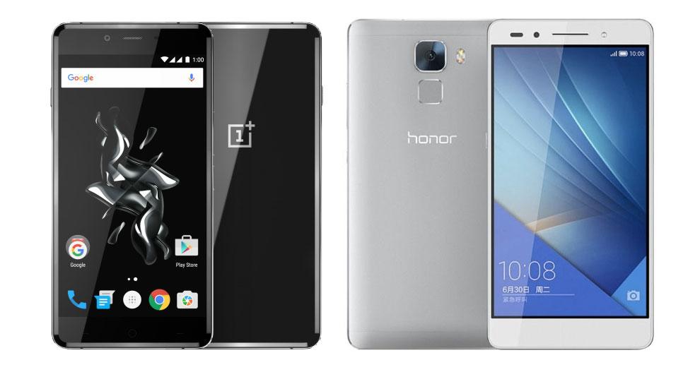 OnePlus X vs Honor 7 : le Snapdragon 801 à l'assaut du milieu de gamme