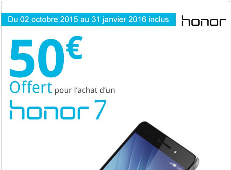 Bon plan : Honor 7 à 279 euros au lieu de 349 euros chez Darty