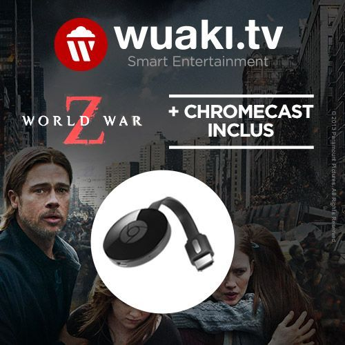 Bon plan : le Chromecast 2 encore moins cher à 25,99 euros avec le film World War Z offert